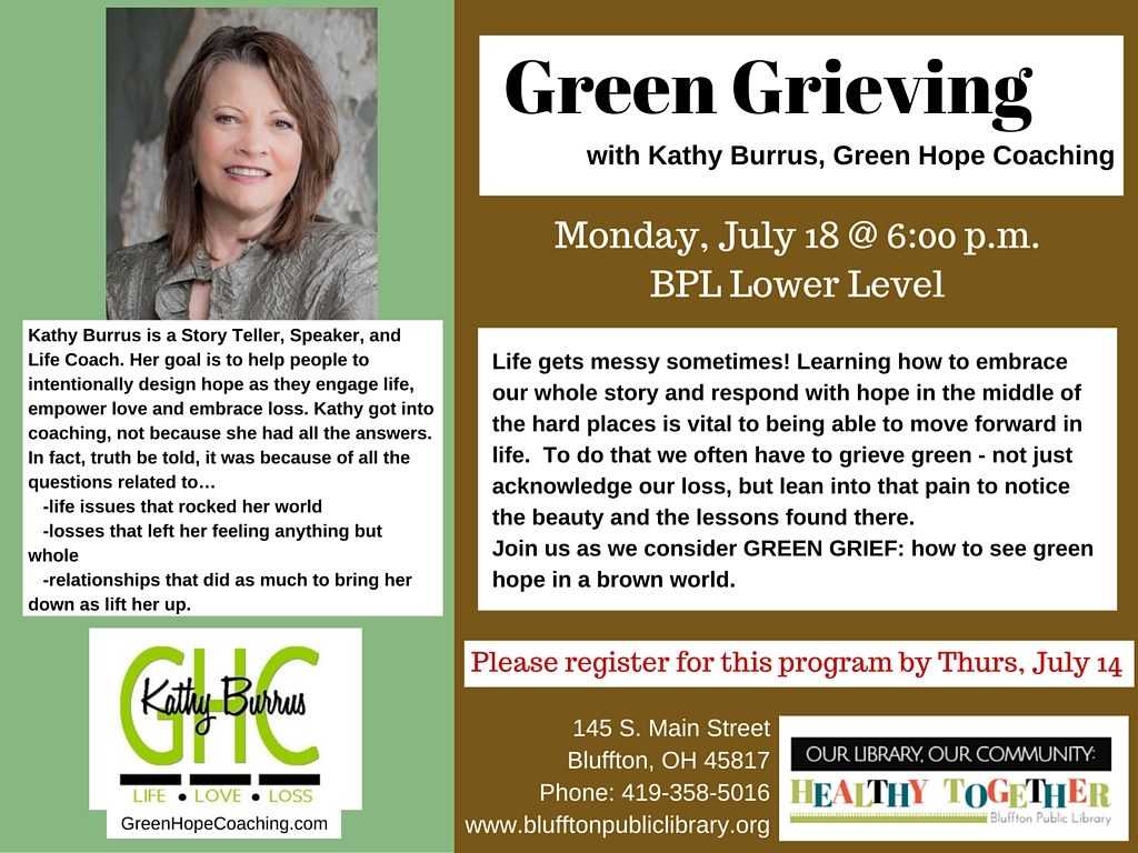 Green Grieving bluffton library